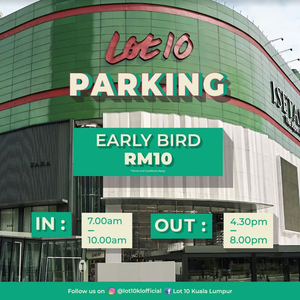 lot 10 parking rate
