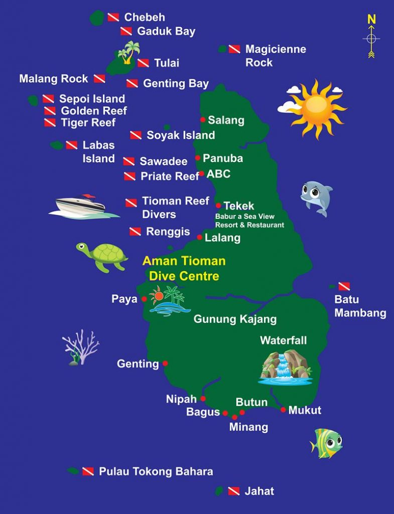 aman tioman leisure map