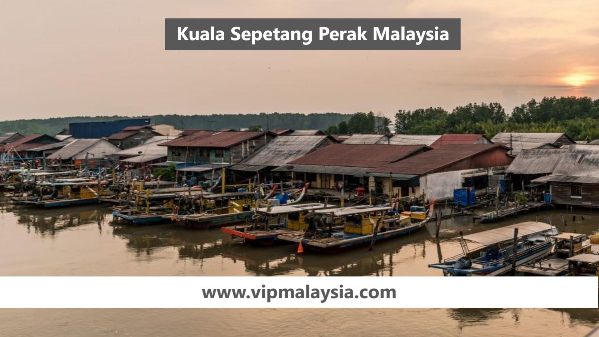 Kuala Sepetang Perak Town in Malaysia