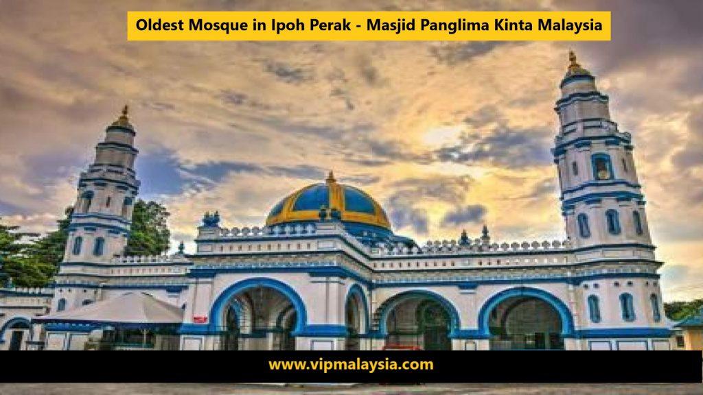 Masjid Panglima Kinta Mosque in Ipoh Perak Malaysia